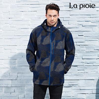 La proie 男式休閒外套-藍色印花