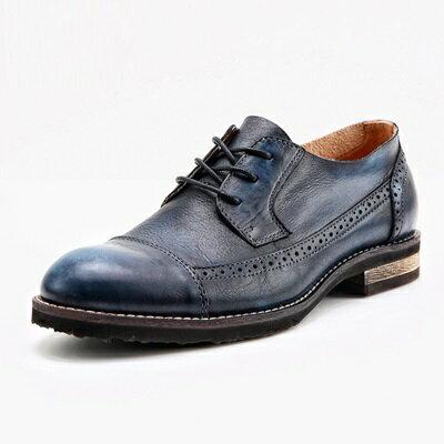短靴真皮繫帶靴子-巴洛克雕花英倫復古男靴2色73kk37【獨家進口】【米蘭精品】