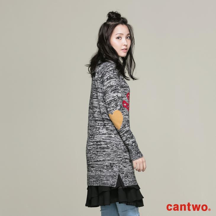 cantwo簡約字母長版針織上衣(共三色) 2