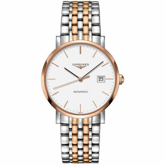 LONGINES 浪琴表 L49105127 雙色優雅標準經典腕錶/白面39mm