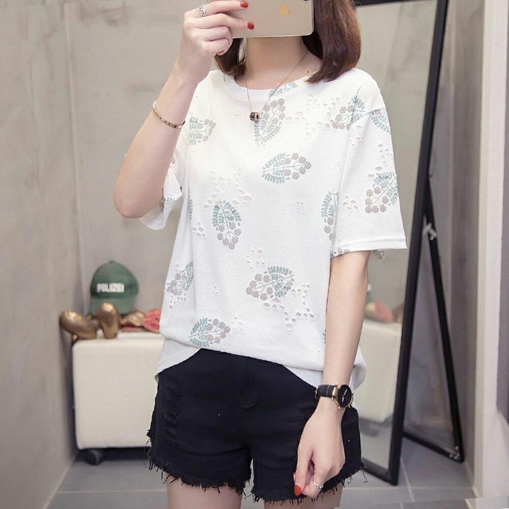圓領寬鬆印花大碼T恤(2色L~4XL)【OREAD】 2