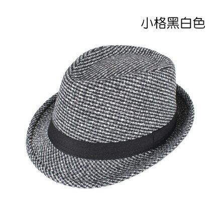 米購新款韓版爵士帽潮男英倫復古男士小禮帽舞臺遮陽休閒紳士帽子『xxs59』