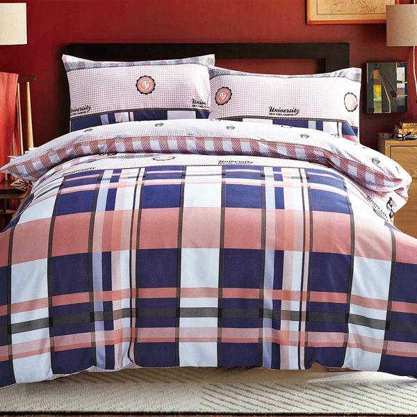 Picasso 牛仔格紋 雙人六件式舖棉床罩組/ 哇哇購