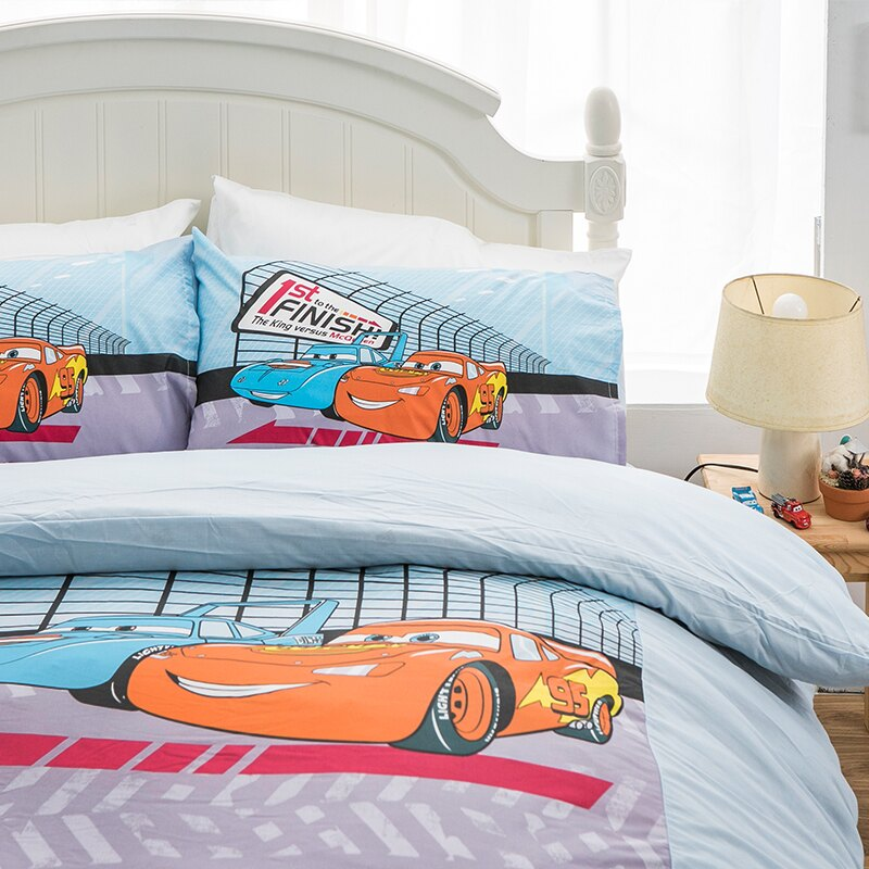 床包被套組 / 單人【Cars閃電麥坤-賽車篇】混紡精梳棉,含一件枕套,正版授權,戀家小舖,台灣製