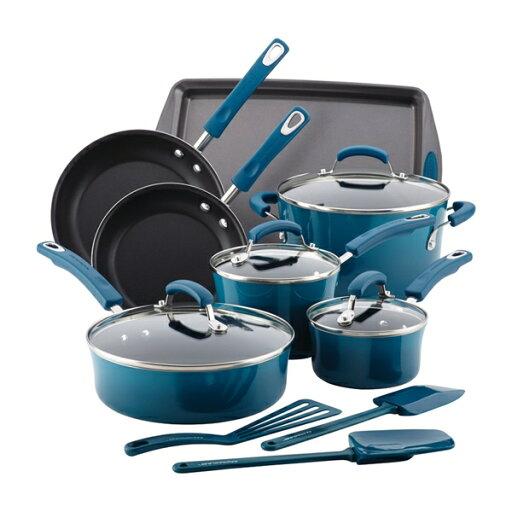 Rachael Ray Hard Enamel Nonstick 14-Piece Cookware Set ae045f350082226b657c09719586e989