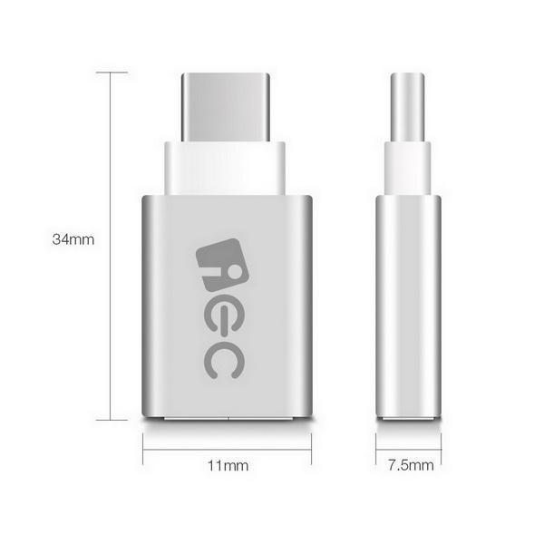 Aluminum USB-C to Micro USB Adapter Support Data Transfer and Charging for PC Laptop Phone 0
