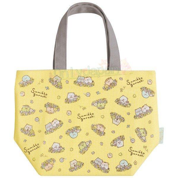 【真愛日本】4974413734592 保冷提袋-SG七週年花園貓咪SDAB 角落生物 角落公仔 貓咪 七周年限定 餐袋 保溫袋 便當袋