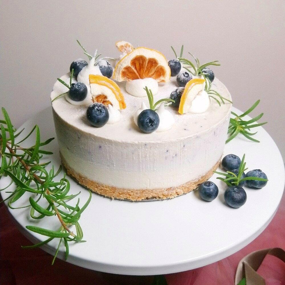 紫色魔戀藍莓生乳酪蛋糕【8吋】