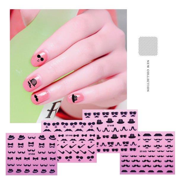 3D指甲貼翹鬍子小鬍子造型指甲貼紙20款可選【櫻桃飾品】【20019】