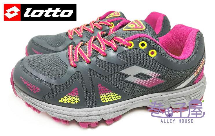 【巷子屋】義大利第一品牌-LOTTO樂得 女款五大機能輕量越野慢跑鞋 [2738] 灰紫紅 超值價$690