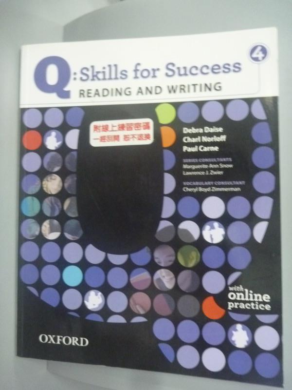 【書寶二手書T1/語言學習_XBQ】Q: Skills for Success Reading & Writing 4