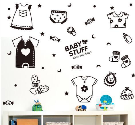 WallFree窩自在★DIY無痕壁貼/牆貼-XL3040-寶寶樂店鋪貼