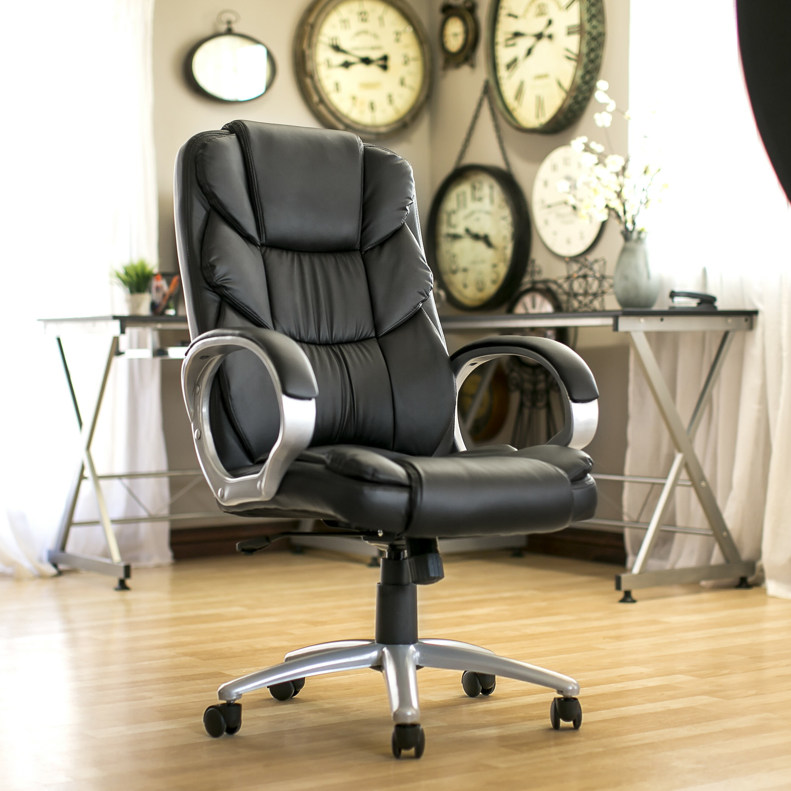 Best Choice Products Ergonomic PU Leather High Back Office Chair, Black 1