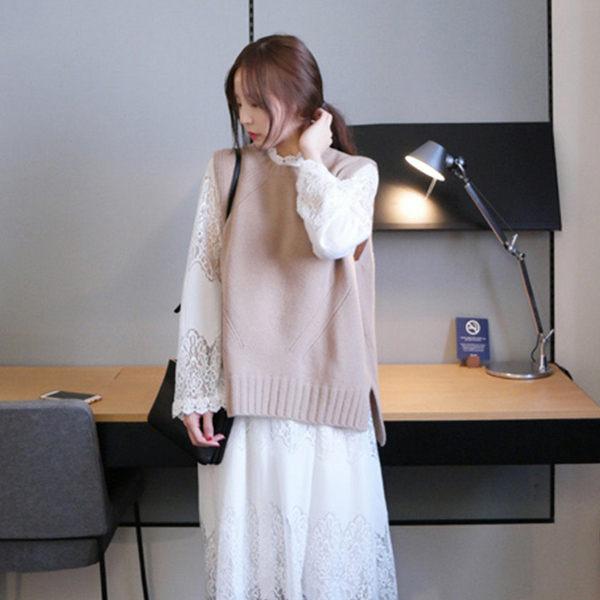 PS Mall 百搭女孩純色針織背心 上衣【T163】 - 限時優惠好康折扣