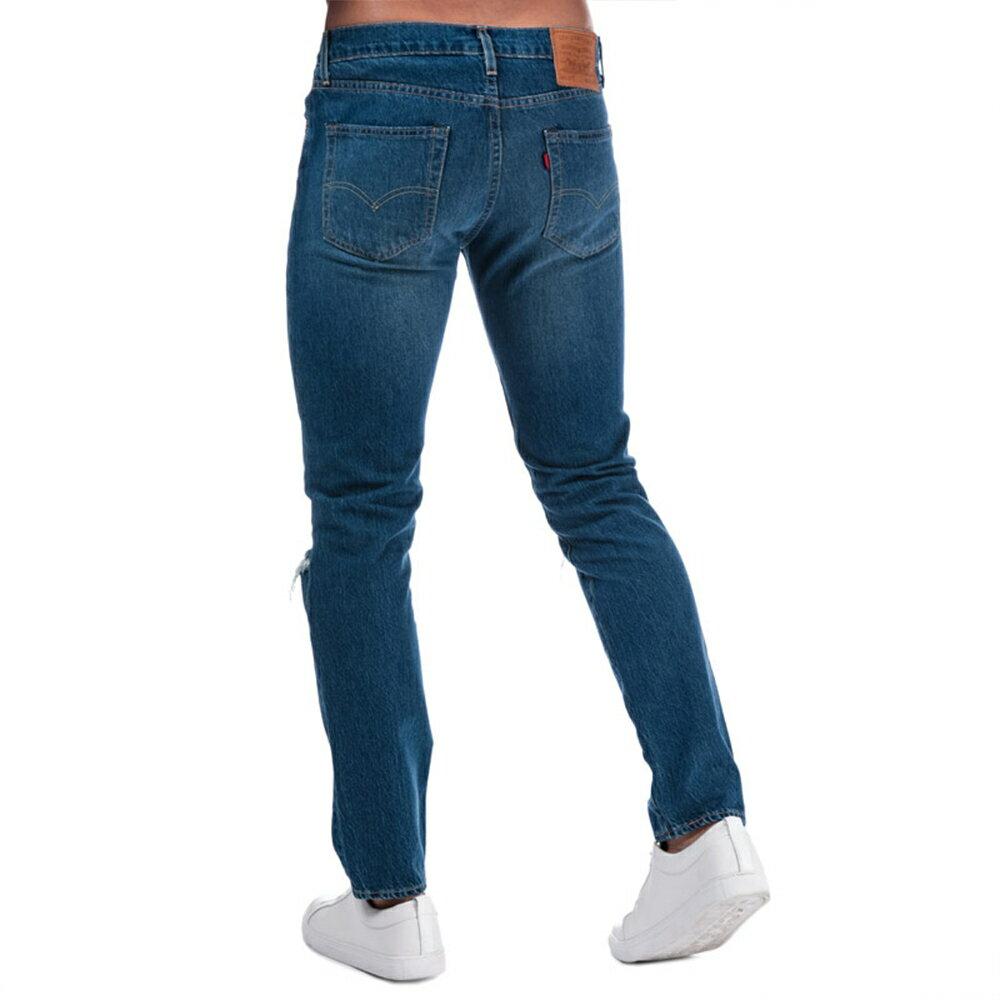 Levis 男款 511 低腰修身窄管牛仔長褲  /  破壞 2
