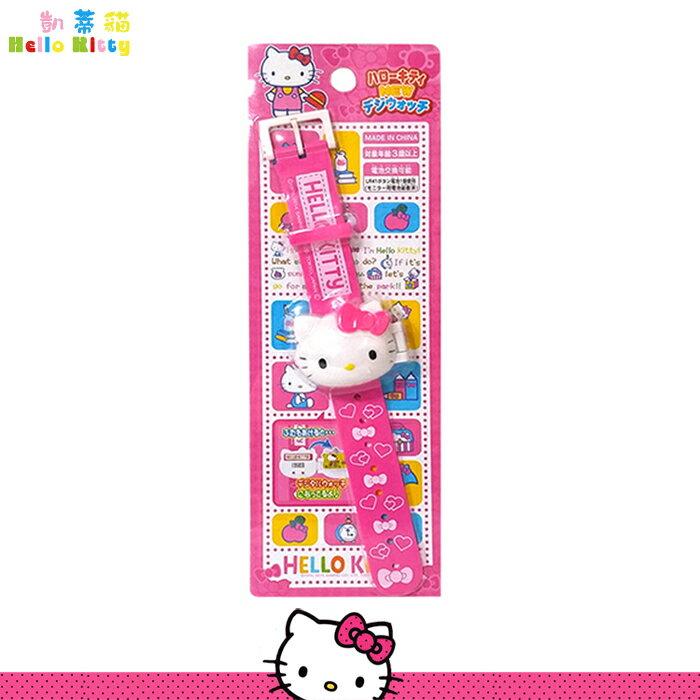 Hello Kitty 兒童手錶 凱蒂貓大頭 掀蓋式 手錶 電子錶 卡通錶 日本進口正版 012347
