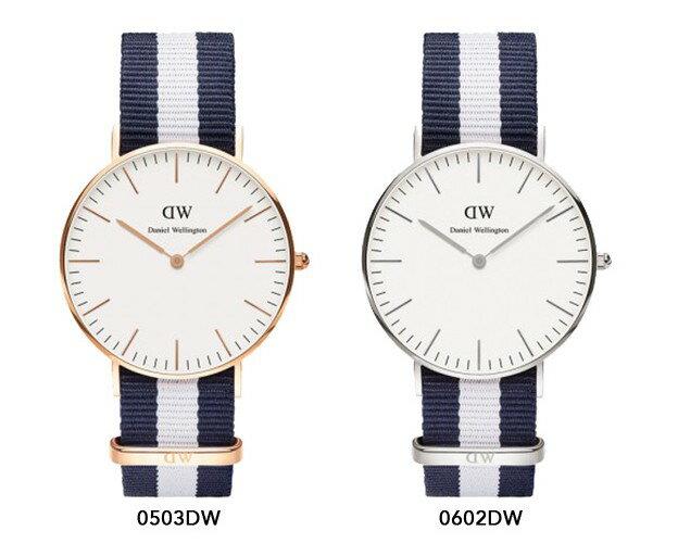 瑞典正品代購 Daniel Wellington 0503DW 玫瑰金 尼龍 帆布錶帶 女錶手錶腕錶 36MM 3