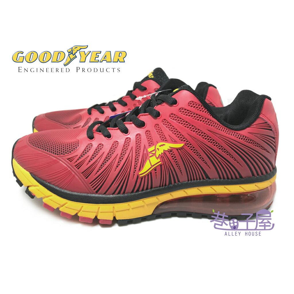 【巷子屋】GOODYEAR固特異 極速霸主男款KPU緩震氣墊慢跑鞋 [63302] 紅 超值價$690