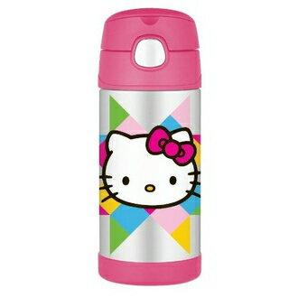 美國 THERMOS 膳魔師 Hello Kitty 不鏽鋼真空保溫瓶 兒童吸管水壺 ~夏