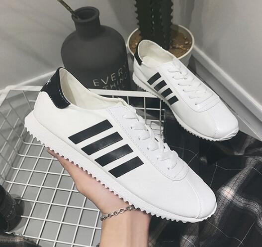 FINDSENSEMD日系流行時尚潮男綁帶杠條休閒鞋阿甘鞋運動鞋板鞋