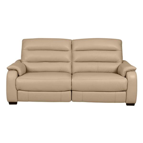 ◎(OUTLET)半皮3人用電動可躺式沙發 CRONA NB BE 福利品 NITORI宜得利家居 1
