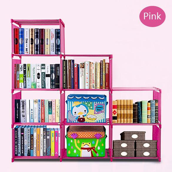 Adjustable Bookcase Storage Bookshelf with 9 Book Shelves 1