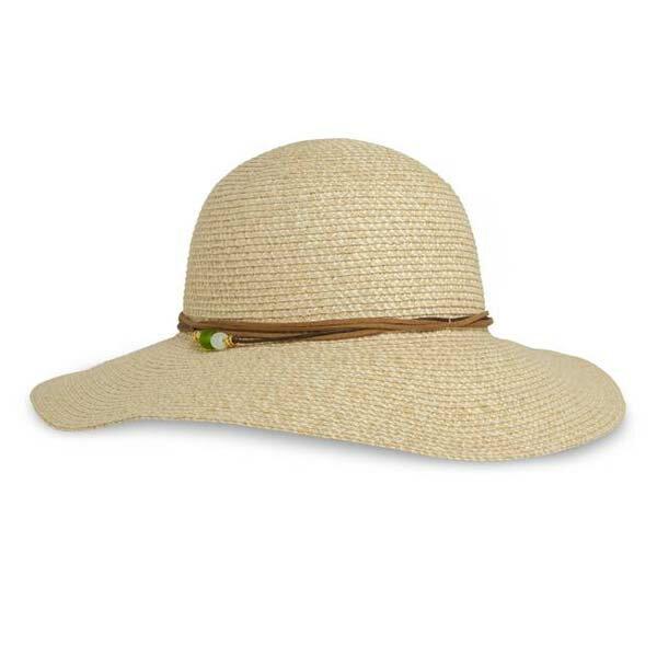 《台南悠活運動家》SUNDAY女抗UV防曬輕量編織帽瑪瑙黃SAS2C86496-219-07