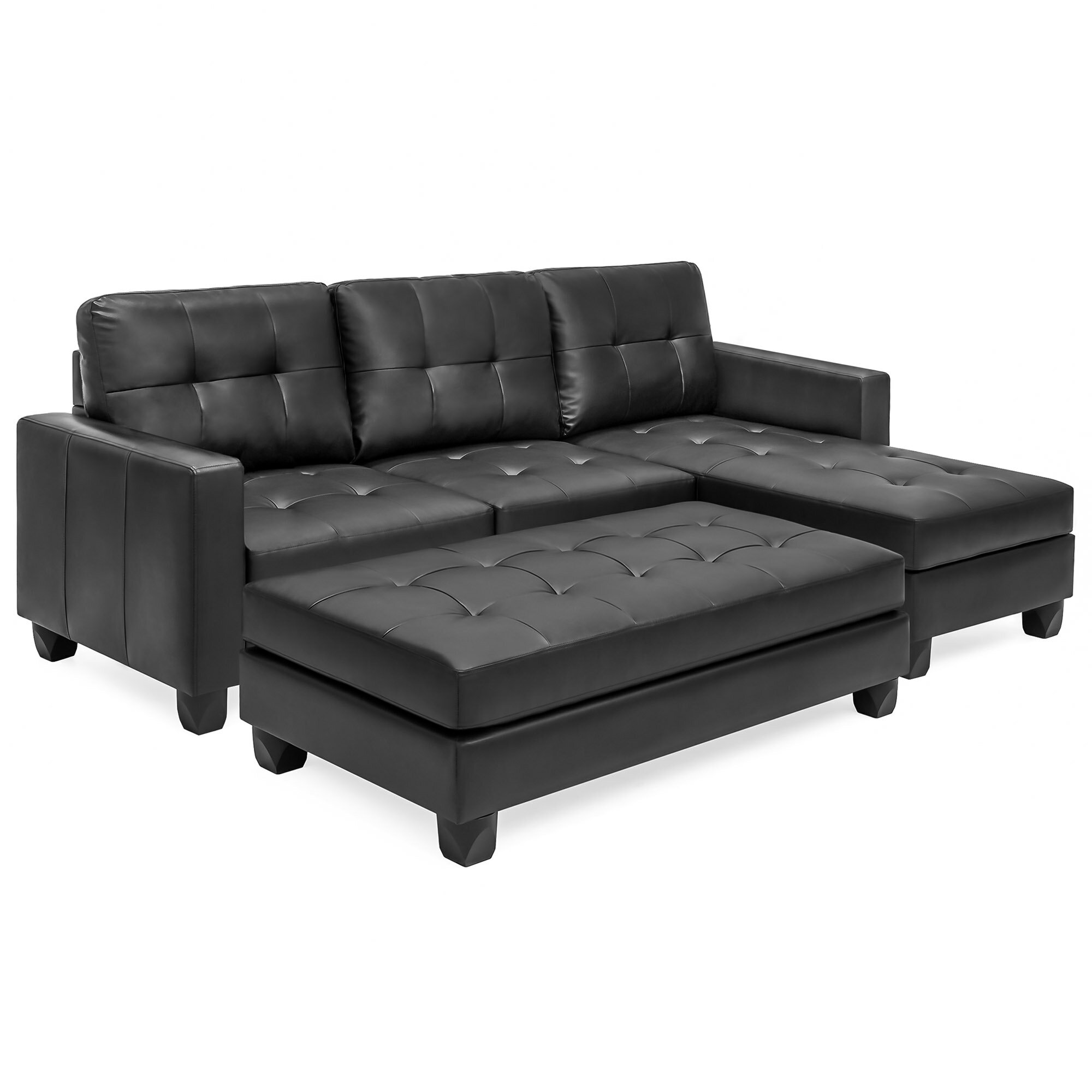 Bestchoiceproducts Best Choice Products 3 Seat L Shape Tufted Faux