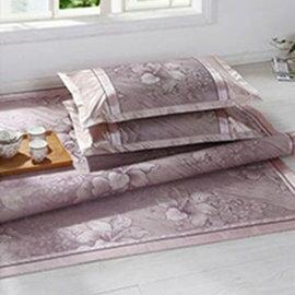 WallFree窩自在 專櫃 印花冰絲涼席~枕套~紫百合