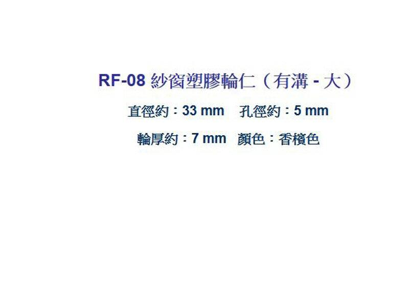 RF-08【昇瑋鋁窗五金】塑膠輪仁 (大-有溝)紗窗輪 紗門輪 鋁窗輪 塑膠輪 鋁門輪 氣密窗輪 輪子 玻璃窗輪 滾輪