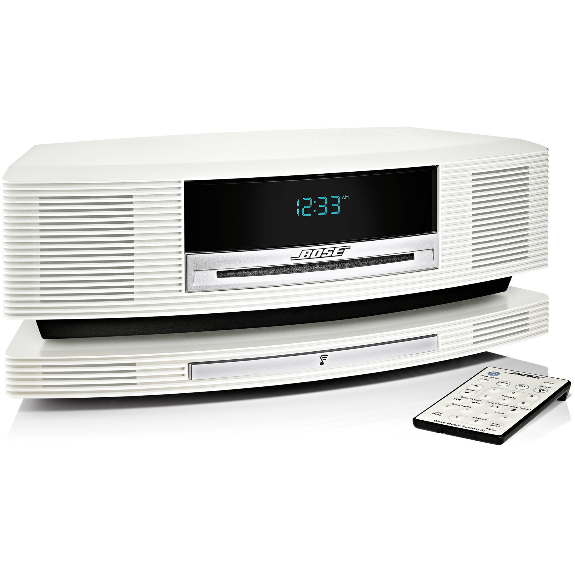 Bose Wave SoundTouch Music System - CD-R - CD-DA, MP3, WMA, AAC, Apple  Lossless Playback - 1 Disc(s) - Platinum White