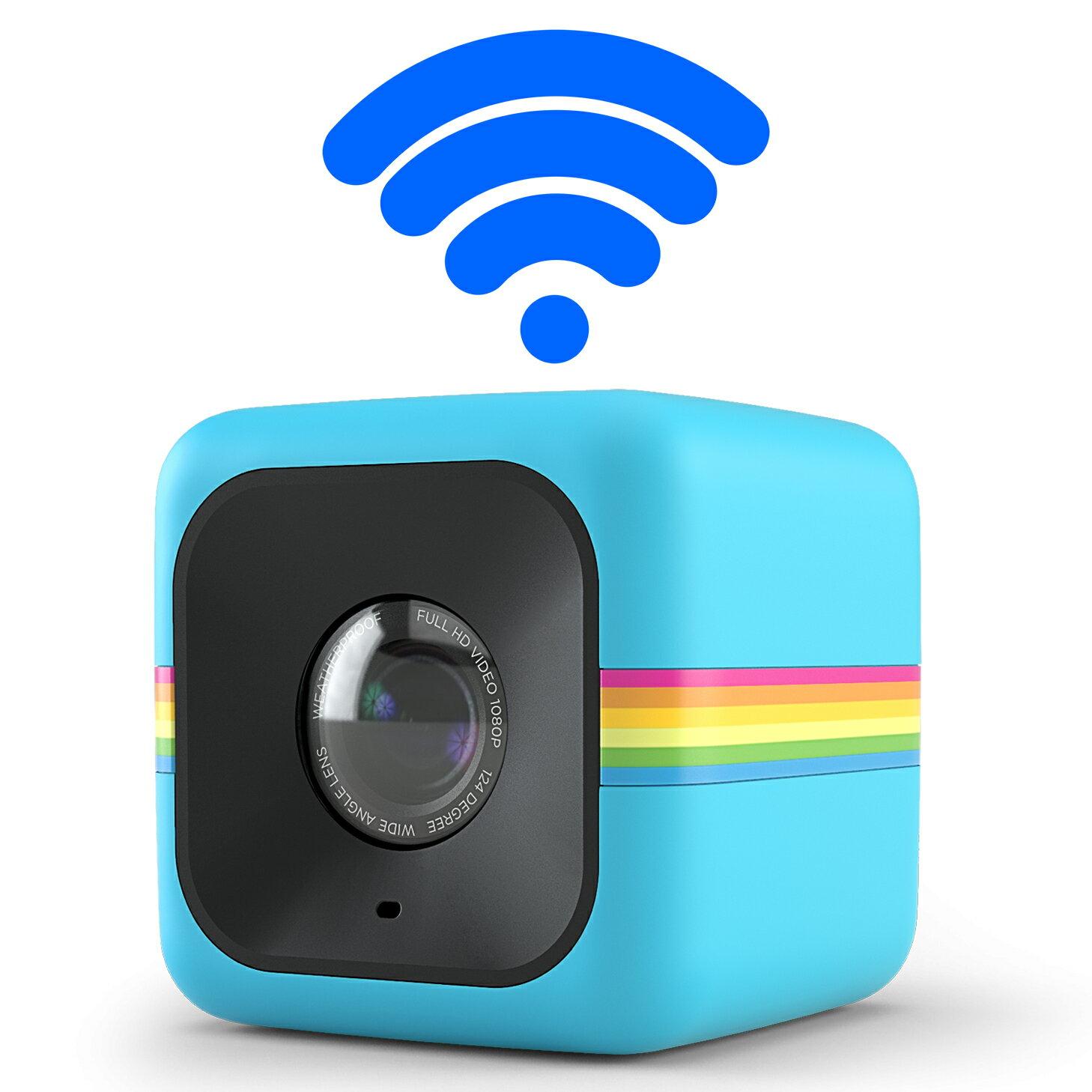 【和信嘉】Polaroid Cube+ 骰子相機(藍色) WIFI 迷你行動攝影機 公司貨 原廠保固一年