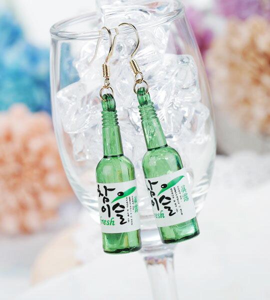 (有影片實拍)韓國熱賣燒酒 歐逆必備防敏鋼針耳環