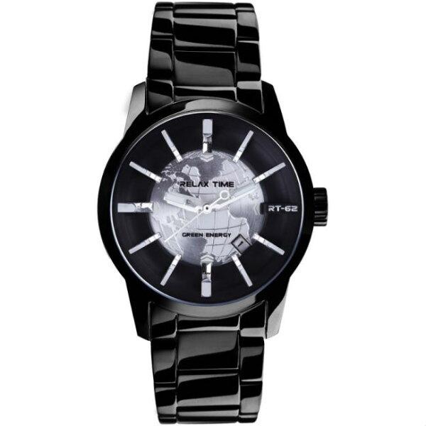 大高雄鐘錶城:RELAXTIME史上最帥人動電能錶款-經典銀(RT-62-1)45mm