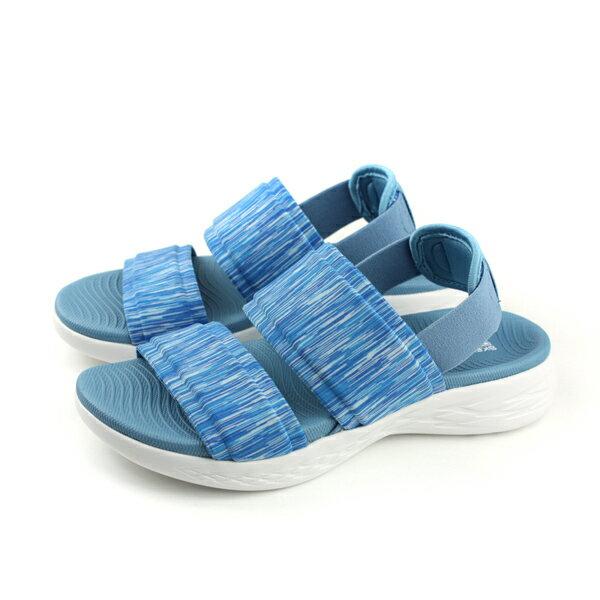 SKECHERSON-THE-GO600涼鞋女鞋水藍色15309BLUno845