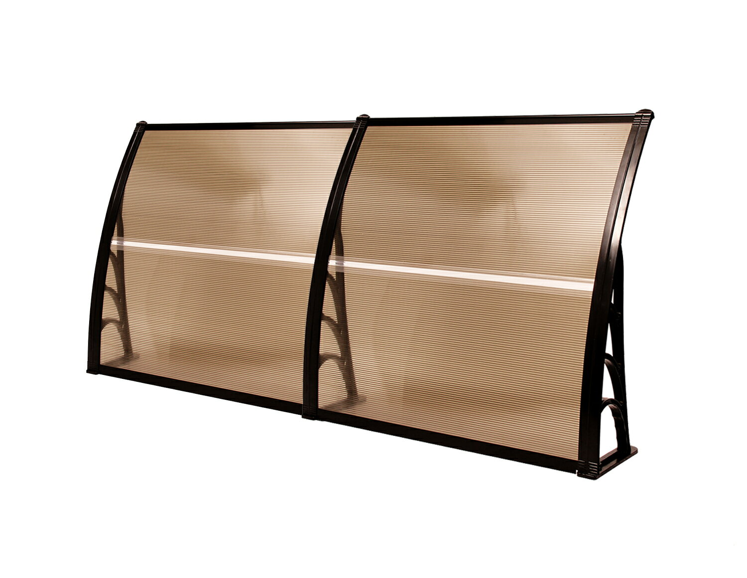 "MCombo 40""x80"" Brown Window Awning Outdoor Polycarbonate Front Door Patio Cover Garden Canopy 2"