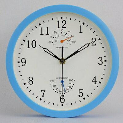 ☆時鐘 藝術掛鐘-溫度濕度計靜音多功能創意壁鐘6色72z14【獨家進口】【米蘭精品】
