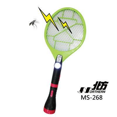 <br/><br/>  德國 北方 充電式電蚊拍 MS-268    三層高密度電擊網/ 分離式手電筒/ 隱藏式充電插座<br/><br/>