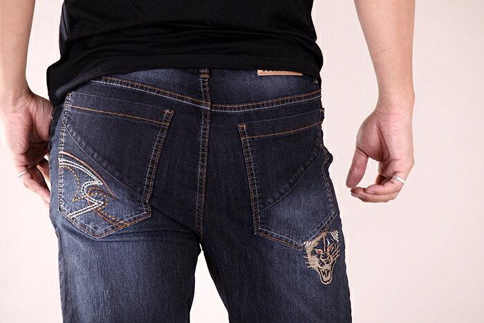 【CS衣舖 】台灣製造 刺繡 精品質感 超彈力 透氣 牛仔長褲 6561 6