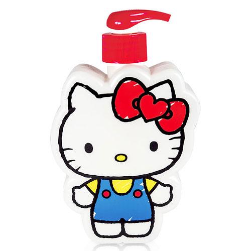 ☆Hello Kitty☆凱蒂貓『40週年限定』插畫風造型3D造型沐浴公仔 - 日安天使 350 ml 精美Kitty 造型瓶罐值得收藏