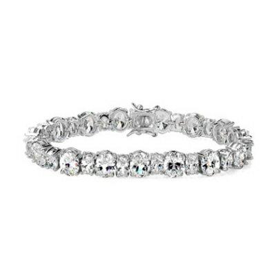 ~純銀手鍊 鍍白金鑲鑽手環~ 大方簡約獨特生日情人節 女飾品73cv36~ ~~米蘭 ~