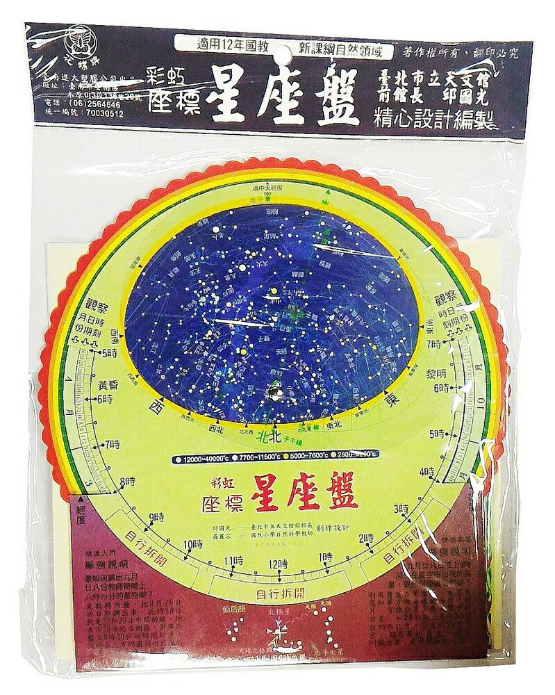 【文具通】Jin Da 進大花蝶 彩虹 座標 星座盤 B2070015
