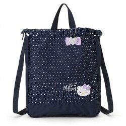 大賀屋 日貨 Hello Kitty 手提包 後背包 束口袋 縮口袋 女包 包包 點點 KT 正版 J00030709