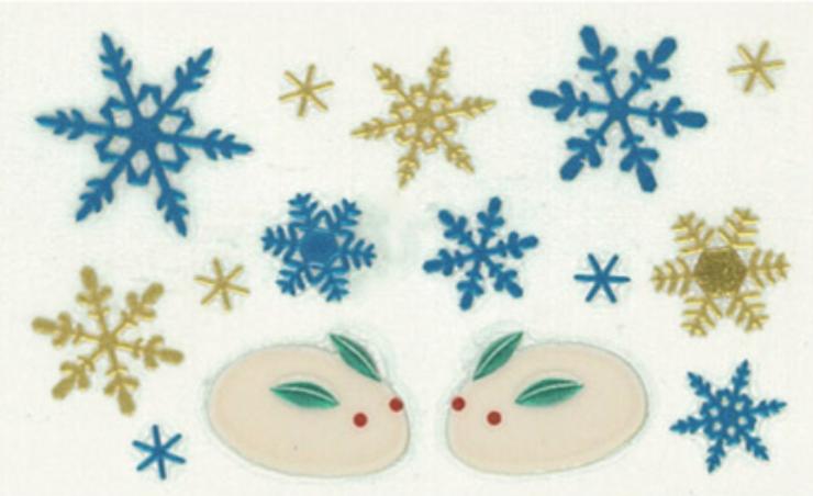 日本金澤 金箔 蒔繪 貼紙  雪兔 日本直送 0