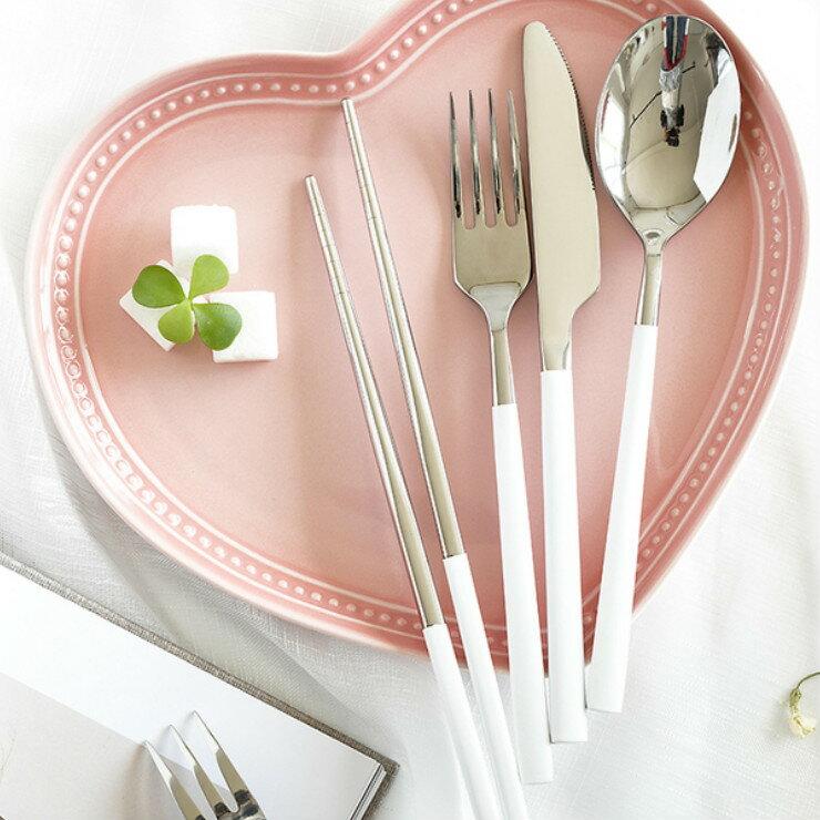 歐風 甜蜜糖果色 304不鏽鋼餐具套組 外出餐具 套組餐具