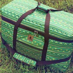 【【蘋果戶外】】KAZMI K4T3B009 經典民族風裝備收納袋(100l) 綠 保護袋/提袋/防塵袋/大型工具袋/裝備袋/收納箱