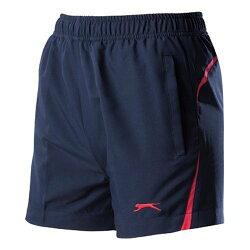 【H.Y SPORT】Slazenger 女 抗紫外線透氣式伸縮網球短褲-L 563014 丈青/防潑水/抗UV/運動