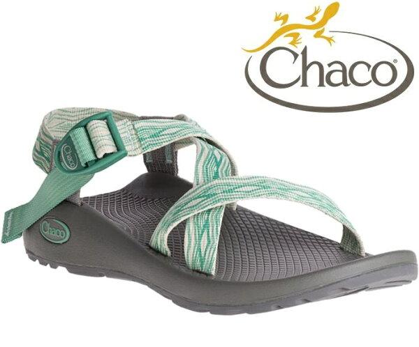 Chaco涼鞋越野運動涼鞋水陸鞋綁帶涼鞋-標準款女美國佳扣CH-ZCW01HE38帝國松綠