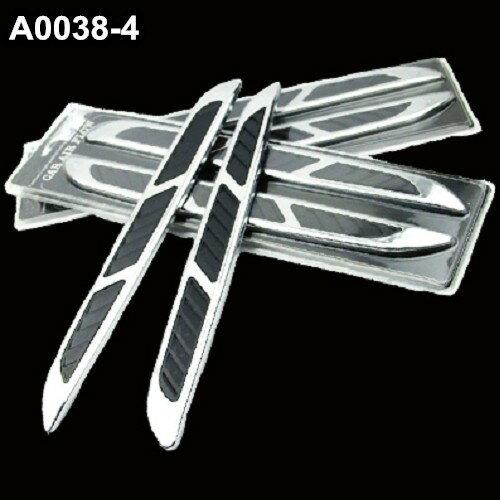 A0038-4 鯊魚腮 側風口裝飾貼 引擎蓋裝飾 鯊魚鰭 出風口貼 葉子板BMW BENZ FORD AUDI 沂軒精品