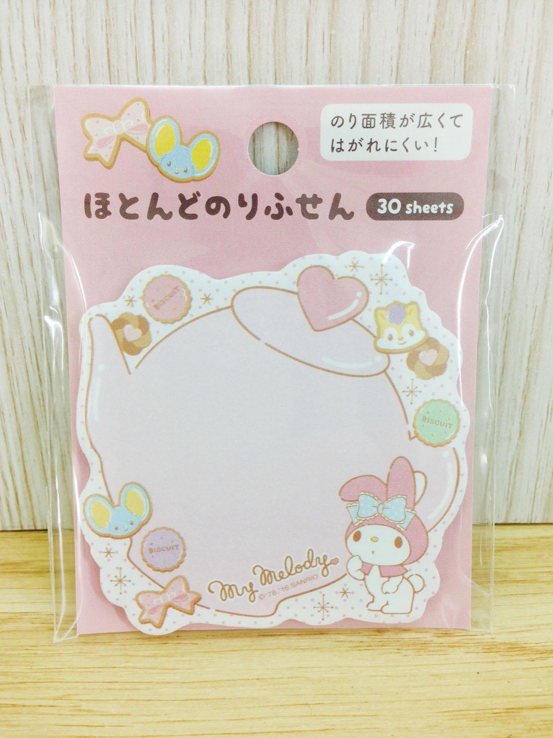 【真愛日本】16060800034造型自黏便箋-MM茶壺粉    三麗鷗家族 Melody 美樂蒂  文具 標籤紙 造型標籤